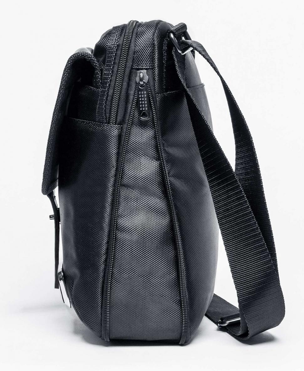 aad533e73a1f Комбинированая черная сумка на плечевом ремне ALPHA Y02 black купить ...